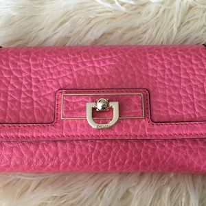 DKNY Pink Leather Wallet